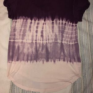 American Eagle Outfitters Tops - Purple tie-die t-shirt